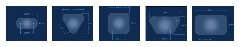 NanoKnife - rozmístění elektrod