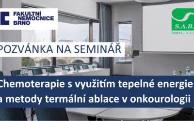 """Seminář """"Chemoterapie s využitím tepelné energie a metody termální ablace v onkourologii"""""""